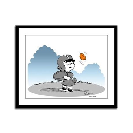 Little Lucy on the Field Framed Panel Print