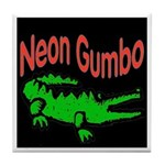 Neon Gator Tile Coaster
