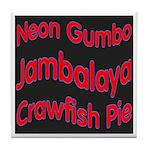 Neon Jambalaya Tile Coaster