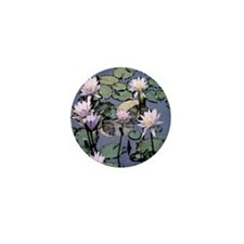 Water Lilies Mini Button (100 pack)