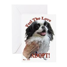 Adopt with Japanese Chin Greeting Cards (Pk of 20)