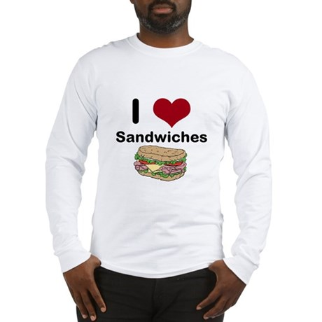 i love sandwiches Long Sleeve T-Shirt