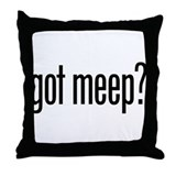 Got Meep? Throw Pillow