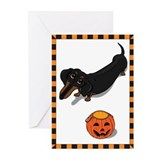 Got Treats? Dachshund Hallowe Greeting Cards (Pk o