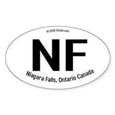 Niagara Falls, Canada Borderless Oval Decal