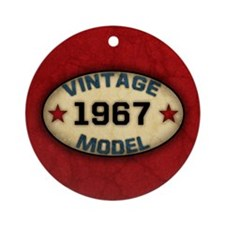 Birthday Vintage Model Year Ornament (Round)