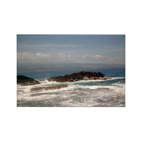 Big Island Tides Rectangle Magnet