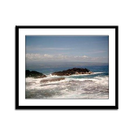 Big Island Tides Framed Panel Print