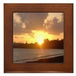 Hilo Sunrise Framed Tile