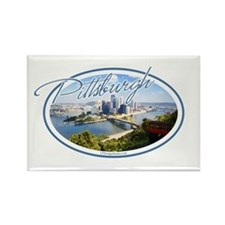 Pittsburgh Postcard Rectangle Magnet