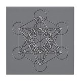 Metatrons Cube Tile Coaster