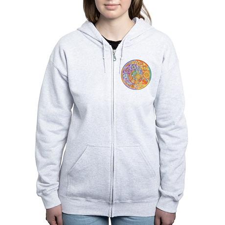 Rainbow Crescents Women's Zip Hoodie