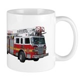 Firetruck Design Coffee Mug