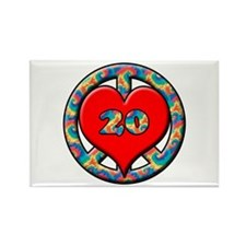 Twentieth anniversary Rectangle Magnet (10 pack)