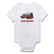 Little Brother Fire Truck Infant Bodysuit