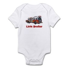 Little Brother Fire Truck Onesie