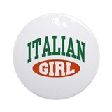 Italian Girl Ornament (Round)