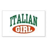 Italian Girl Rectangle Decal