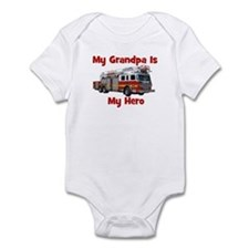 Grandpa Is My Hero FireTruck Infant Bodysuit