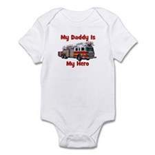 Daddy Is My Hero FireTruck Infant Bodysuit