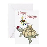 Turtle Christmas Greeting Card
