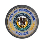 Henderson Police Wall Clock