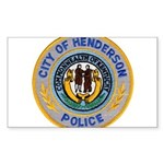 Henderson Police Sticker (Rectangle 10 pk)