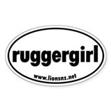 Ruggergirl Rugby Humor Sticks Oval Decal
