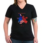 Cold War T-Sihrt Women's V-Neck Dark T-Shirt