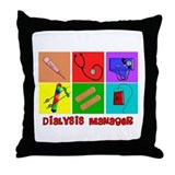 Funny Dialysis manager Throw Pillow
