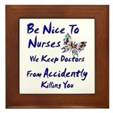 Cool Nurse Framed Tile