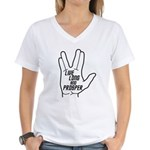Live Long and Prosper Women's V-Neck T-Shirt