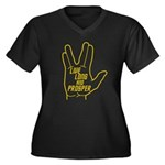 Live Long and Prosper Women's Plus Size V-Neck Dar