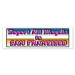 Deport All Illegals Sticker (Bumper 10 pk)