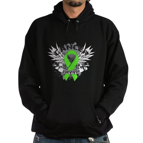 Lymphoma Cancer Survivor Hoodie (dark)