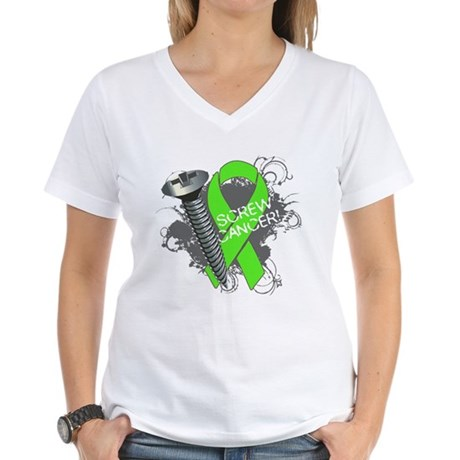 Screw Lymphoma Cancer Women's V-Neck T-Shirt