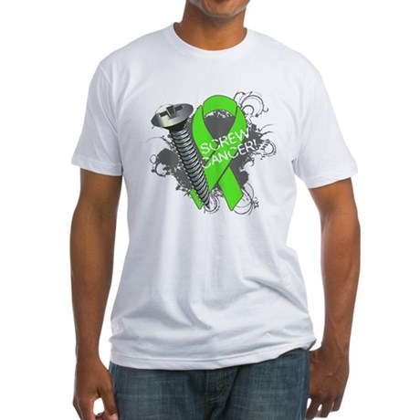 Screw Lymphoma Cancer Fitted T-Shirt