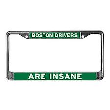 Boston Drivers Are Insane License Plate Frame