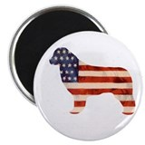 Newfoundland Dog USA Magnet