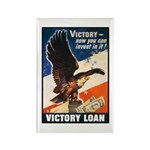Victory Eagle Poster Art Rectangle Magnet (10 pack