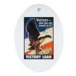 Victory Eagle Poster Art Oval Ornament
