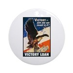 Victory Eagle Poster Art Ornament (Round)