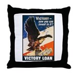 Victory Eagle Poster Art Throw Pillow