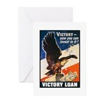 Victory Eagle Poster Art Greeting Cards (Package o