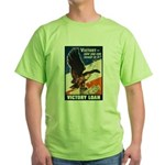 Victory Eagle Poster Art (Front) Green T-Shirt