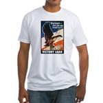 Victory Eagle Poster Art (Front) Fitted T-Shirt