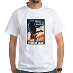 Victory Eagle Poster Art (Front) White T-Shirt