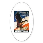Victory Eagle Poster Art Oval Sticker
