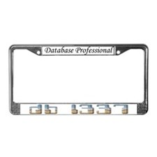 """db l337"" License Plate Frame"