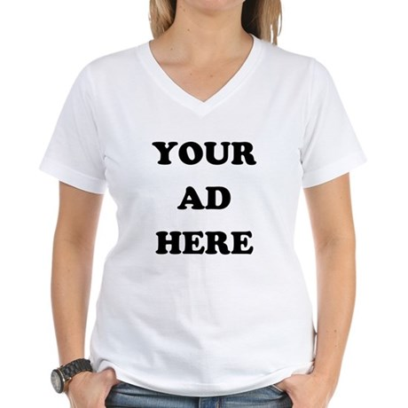 Your Ad Here Womens V-Neck T-Shirt